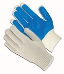 PVC Coated Seamless Knit, Palm Coat On One Side, 10 Gauge, Blue Dz