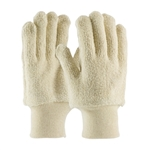 Terry Cloth Seamless Gloves, 24 Oz., Loop-Out, Knitwrist, Natural Color Dz
