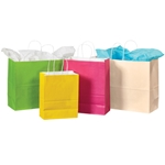 White Tinted Paper Shopping Bags