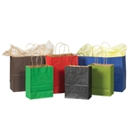 Kraft Tinted Paper Shopping Bags