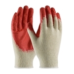 Coated Seamless Knit, Economy Grade, Red Latex, Smooth Palm Coated Dz