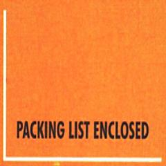 Mil-Spec Packing List Enclosed