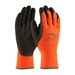 Powergrab Thermo From Towa, Hi-Vis Orange Acrylic Terry Shell, Brown Microfinish Grip Dz        - 41-1400/M