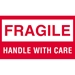 3 X 5 - Fragile - Handle With Care Labels 500/Roll - DL1070