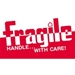 3 X 5 - Fragile - Handle With Care Labels 500/Roll - DL1160