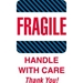 4 X 6 - Fragile - Handle With Care Labels 500/Roll - DL1560