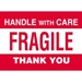 4 X 6 - Fragile - Handle With Care Labels 500/Roll - DL3182