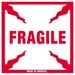 4 X 4 - Fragile Labels 500/Roll - SCL501