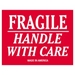 3 X 4 - Fragile - Handle With Care Labels 500/Roll - SCL502R