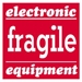 4 X 4 - Fragile - Electronic Equipment Labels 500/Roll - SCL526