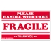 3 X 5 - Fragile - Handle With Care Labels 500/Roll - SCL536