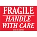 2 x 3 - Fragile - Handle With Care Labels 500/Roll - DL1052