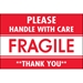 2 x 3 - Fragile - Handle With Care Labels 500/Roll - DL2157