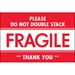 2 x 3 - Fragile - Do Not Double Stack Labels 500/Roll - DL2158
